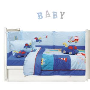 6393 ΣΕΤ ΚΟΥΒΕΡΛΙ BABY DREAM EMBROIDERY