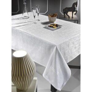 Τραπεζομάντηλο VECTOR WHITE jacquard cotton GUY LAROCHE