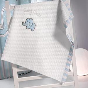 Κουβέρτα πικέ AFRICA BLUE