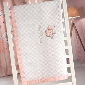 Κουβέρτα πικέ AFRICA PINK