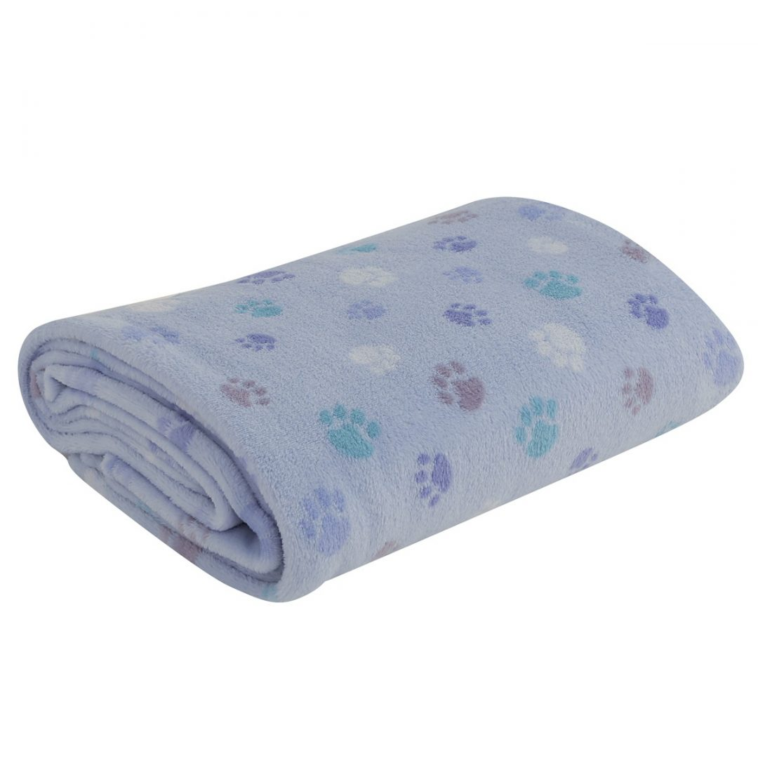 κουβέρτα-fleece-κούνιας-nef-nef-baby-footprint-blue