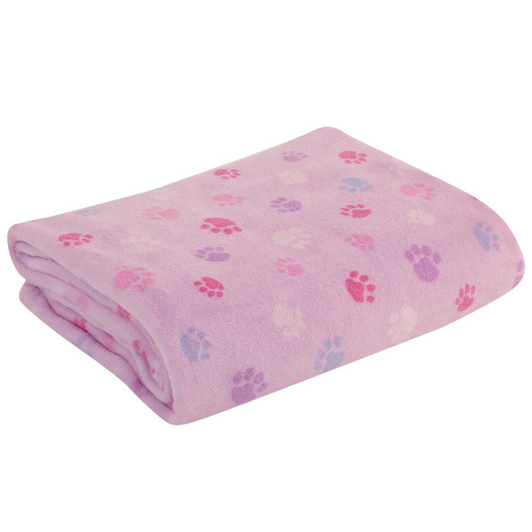 κουβέρτα-fleece-κούνιας-nef-nef-baby-footprint-lilac