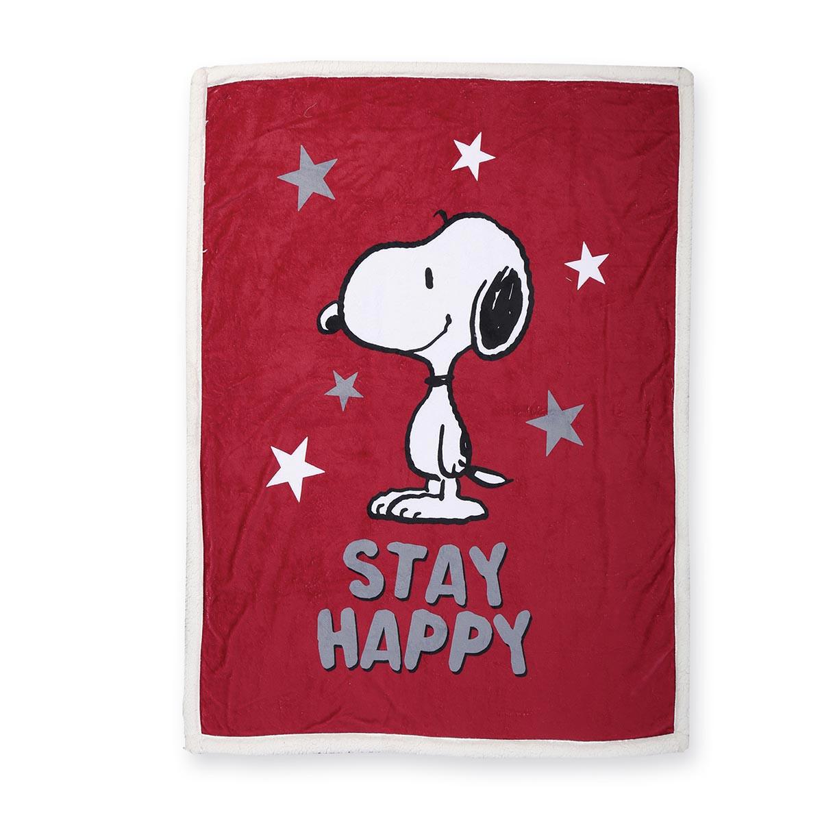 χριστουγεννιάτικη-κουβέρτα-καναπέ-nef-nef-snoopy-be-happy