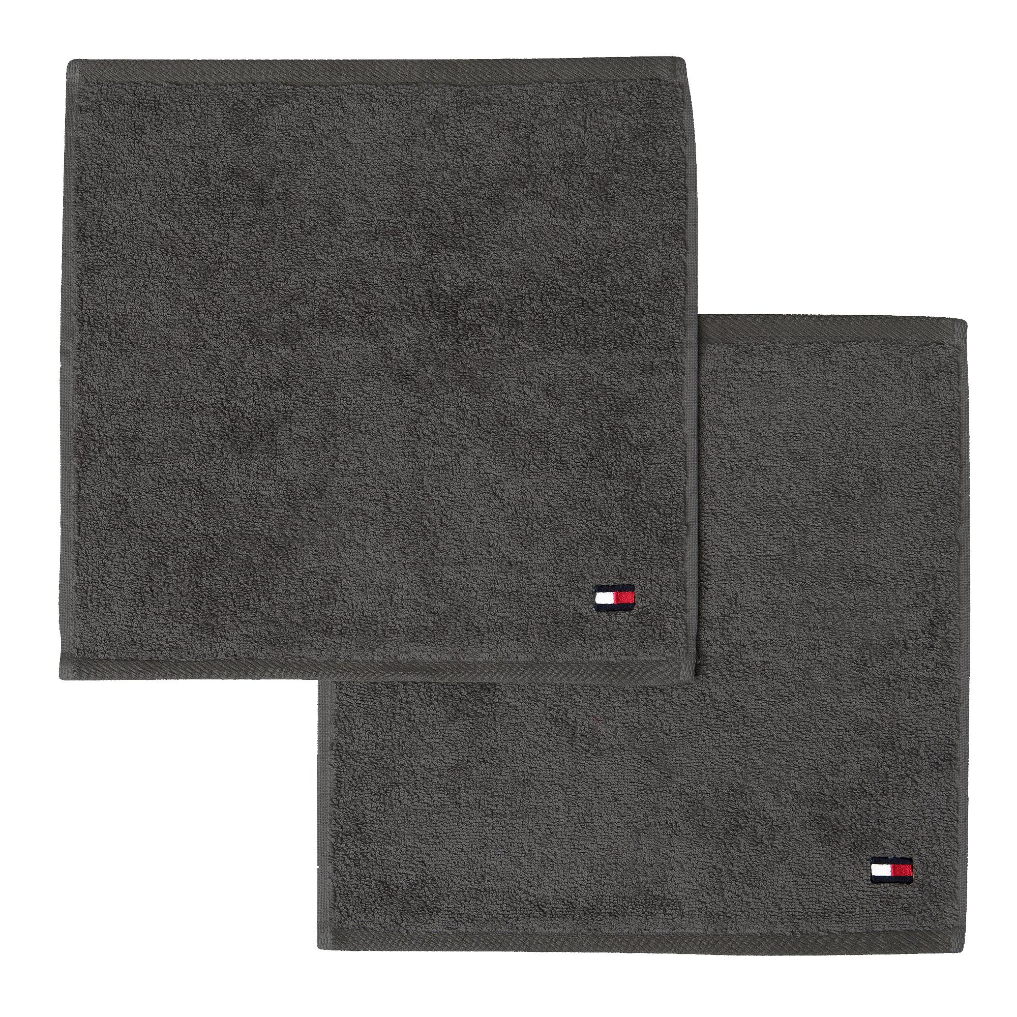 2 serviettes carrées LEGEND 2 EPONGE STEEL