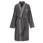 Peignoir kimono ICONIC 2 EPONGE STEEL Recto