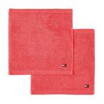 Tommy Hilfiger LEGEND 2 EPONGE 2 serviettes carrées CORAL