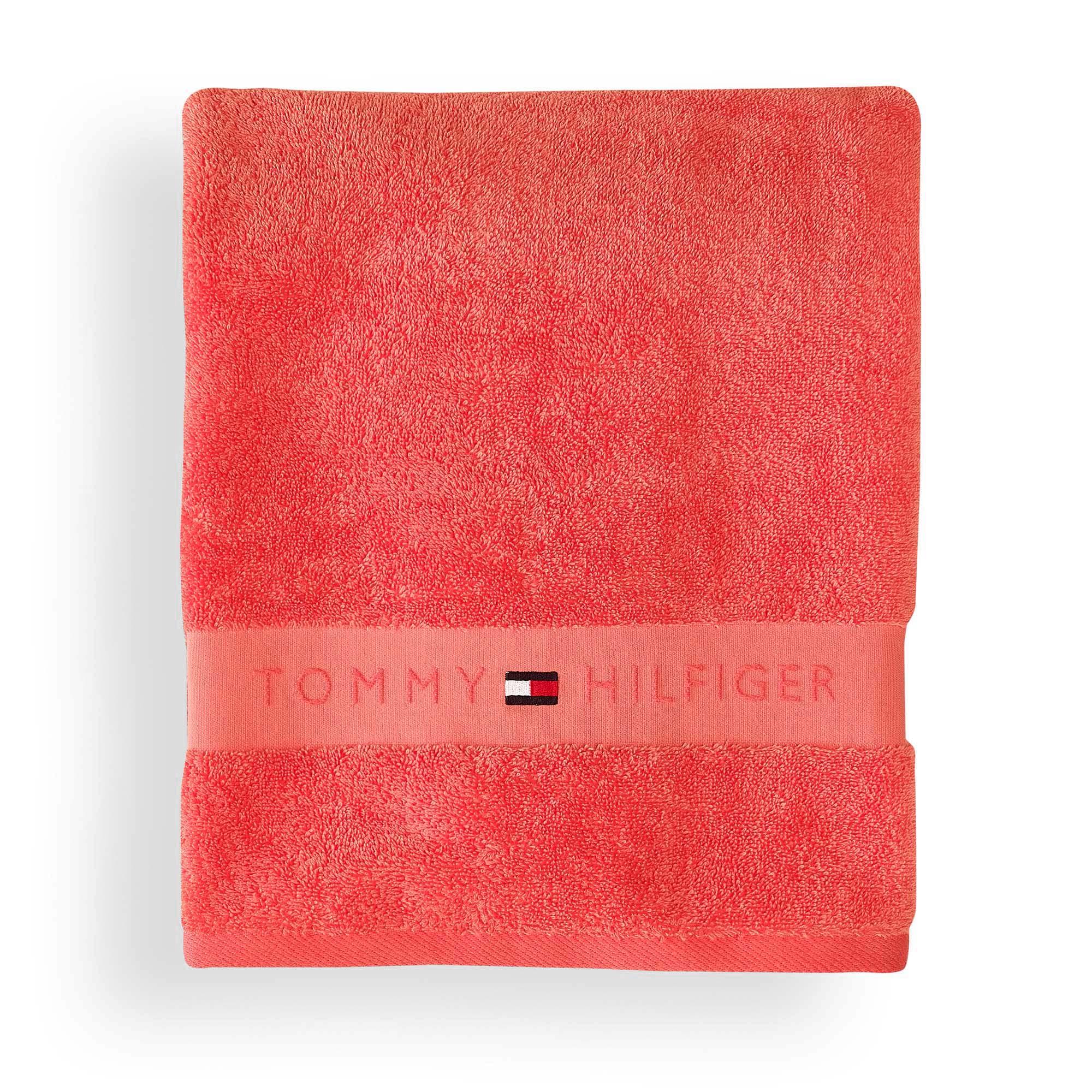 Tommy Hilfiger LEGEND 2 EPONGE Serviette de toilette CORAL