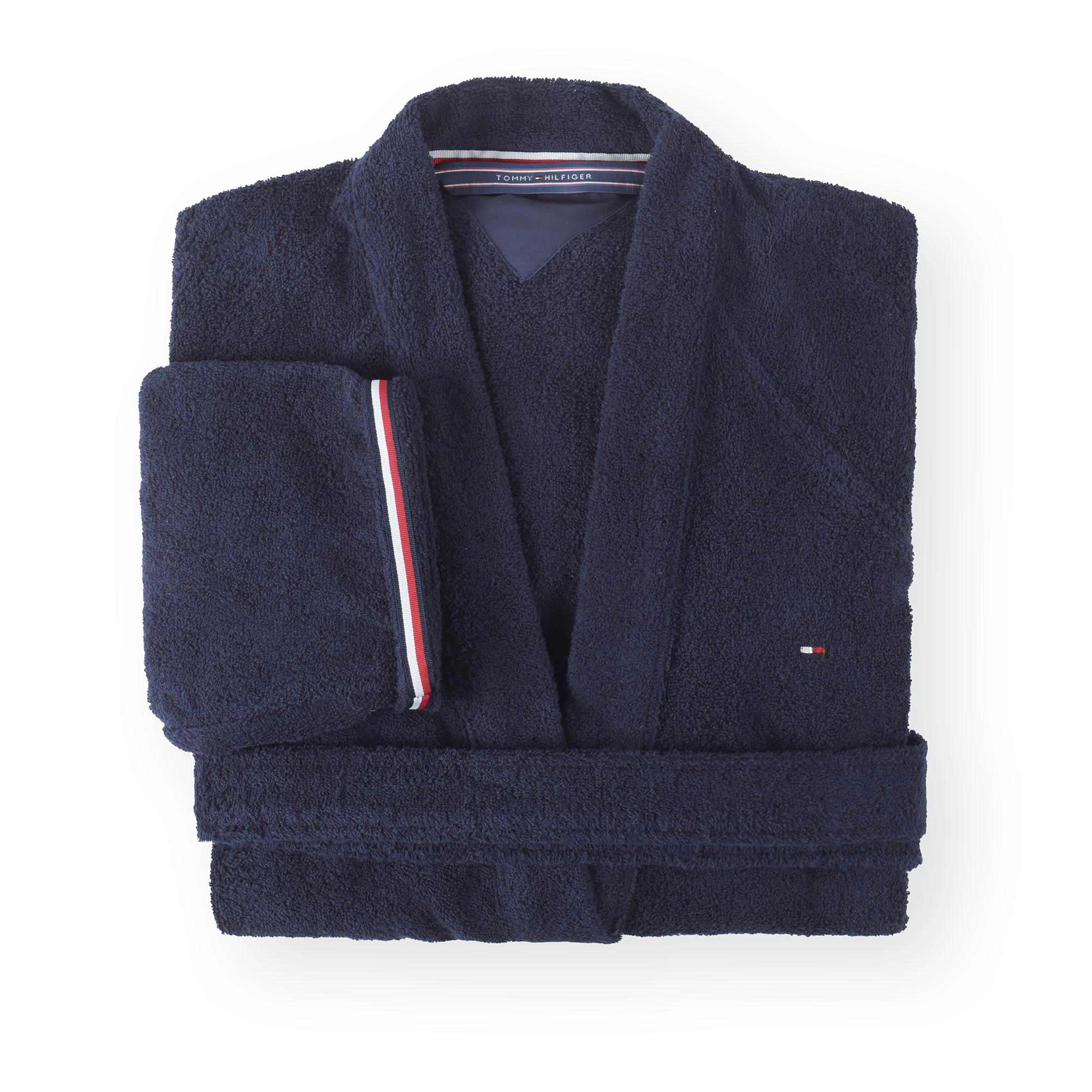 Tommy-Hilfiger-Peignoir-kimono-legend-3-eponge-navy-version-plié