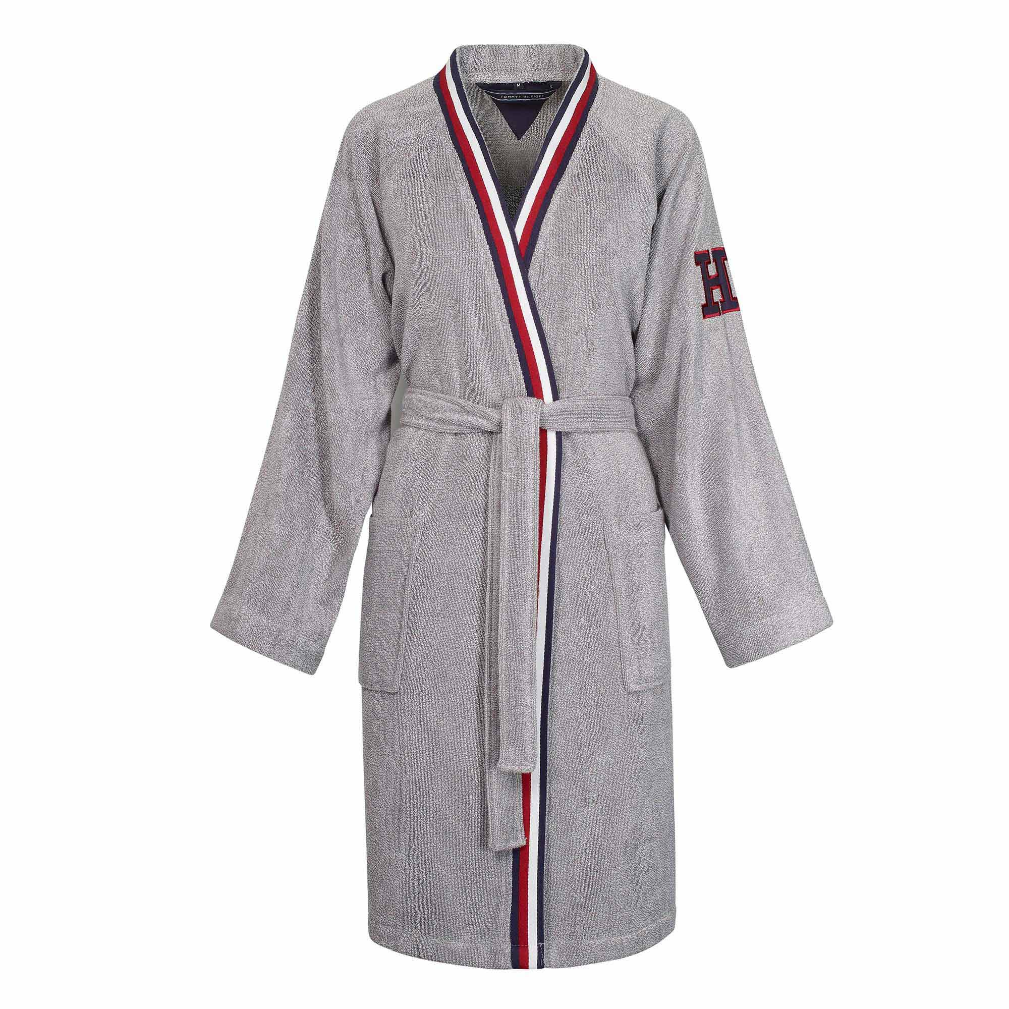 Tommy-Hilfiger-Peignoir-kimono-teddy-eponge-grey-Ghost-Face